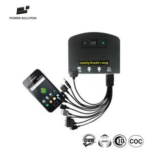 Солнечные домашние системы освещения с 2 лампами зарядное устройство для мобильных телефонов