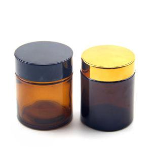 100ml Crème visage orange emballages cosmétiques bocal en verre avec couvercle