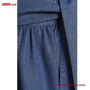 Ceinturée Style évasée Jupe longueur genou Chambray