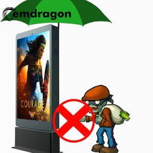 인조 인간 광고 선수 접촉 Screencell 전화 비용을 부과 간이 건축물 옥외 광고를 가진 방수 광고 선수 LCD 디지털 Signage를 서 있는 65 인치 옥외 지면