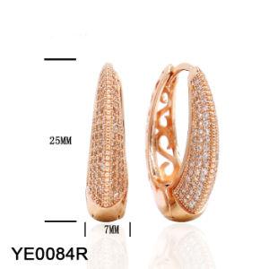 Spätester Entwurfs-Schmucksache-Band-Ohrring AAAkubikzirconia-Ohrringe