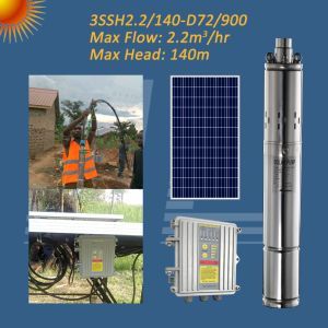 3ssh72/9002.2/140-d'énergie solaire, de la pompe à vis de la pompe d'irrigation solaire, énergie solaire de la pompe de forage