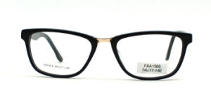 Het Optische Frame van de Acetaat van de Ontwerper van de Brug van het metaal met Uitstekende kwaliteit (FXA1568)