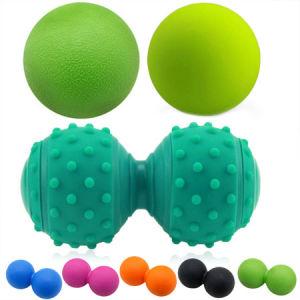 Nde-1-2 La FDA aprobó el TPE de silicona de material de capacitación y formación de Yoga de forma de cacahuete bolas bolas de masaje