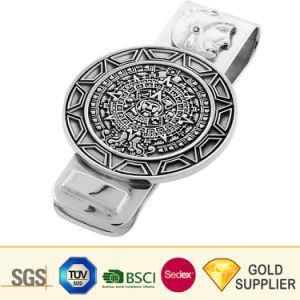 ブランク金属の金の現金お金のための真鍮のニッケル銀のめっきされたステンレス鋼カーボンファイバーの革細いUshapeのペーパークリップを押す高品質のカスタム人の札入れ