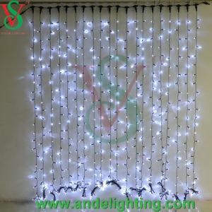Anschließbare LED Vorhang-Lichter des kupfernen Draht-