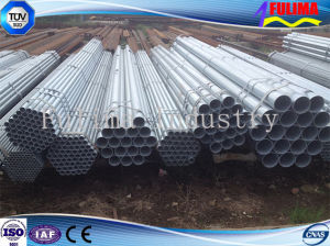 Aço carbono galvanizado tubo redondo soldado para a construção (SP-001)