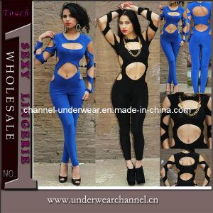 Hot Sale nouvelle conception découpe Sexy Jumpsuit Bandage Bodycon Catsuit 4103
