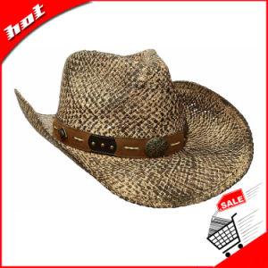 El papel impreso de paja Vent sombrero de vaquero