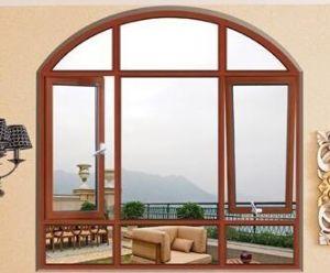Kundenspezifisches hölzernes plattiertes Aluminiumflügelfenster-Fenster für Sunroom