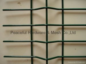 PVC paneles de cerco de malla de alambre soldado