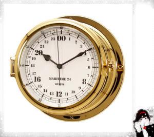24 horas de números árabes Dial 180 milímetros de tiempo militar náutico reloj