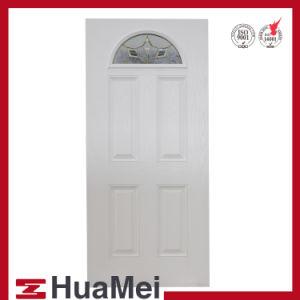 GRP SMC Woodgrain porte porte en fibre de verre et de la porte de la porte de Texture peau-5panneaux en PRF