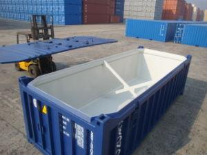 La mitad de disco duro de 20 pies de altura del contenedor de envío el techo abierto.