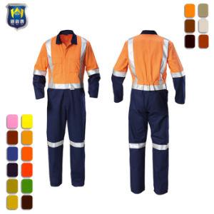 Uniforme generale degli operai arancioni con nastro adesivo riflettente per le tute degli uomini di estrazione mineraria
