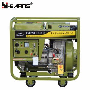 generatore di potere diesel del blocco per grafici aperto 5kw Dg6000e (CE, EPA)