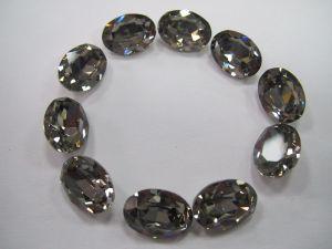 De zwarte Steen van het Glas van het Kristal in Ovaal (3002)