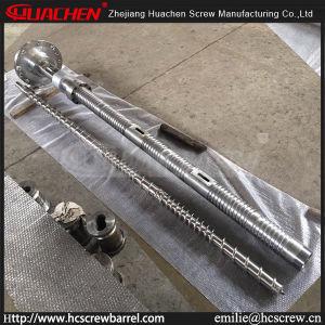 D Bm de desgasificación100/33 tipo Twin tornillo barril para/PE/PP/HDPE LDPE/LLDPE Tubo/Película/hoja de la línea de extrusión Conjunto de piezas de repuesto/