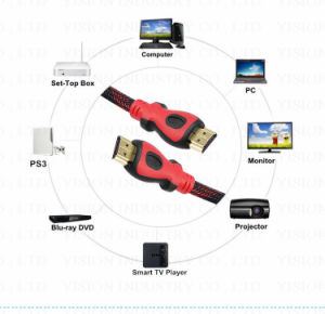 HDMI 케이블 1.4V 1m 1.5m 3m 5m 10 남성 접합기 1080P 3D HD 텔레비젼 LCD LED DLP 영사기에 미터 15m 20m HDMI 케이블 남성