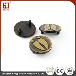 Imprimindo Monocolor simples botão de metal para agasalho
