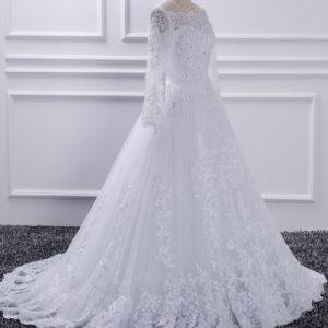Großhandelschina-neues Entwurfs-Mädchen-Spitze-Hochzeits-Kleid