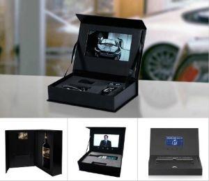 De met de hand gemaakte Doos van het Horloge met LCD Vertoning