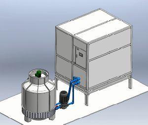 Bloco comercial 30t Cube Máquina de Gelo Máquina para processamento de produtos alimentares