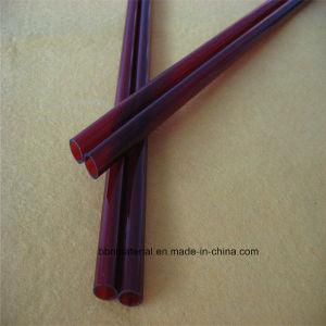 Tubo de vidro de quartzo vermelho para alta temperatura para venda