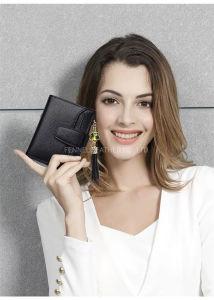 Senhora de boa qualidade Functionable Carteira de couro com o titular do cartão de crédito removível (F3619)