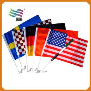 Bandeira de carro nacional impressa personalizada barata (HYCF-AF042)