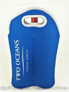 Nuevo tubular de la llegada de la bolsa de enfriador de vino para 2 botellas
