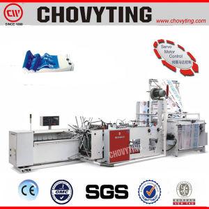 Plástico de alta velocidad automática de la bolsa de pollo con Portillo recoger la bolsa que hace la máquina