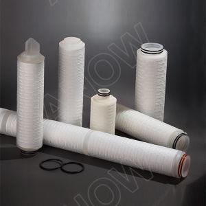 Larga vida de servicio hidrófobas cartucho de filtro de PTFE para filtración estéril
