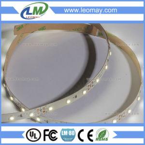 Non-Waterproof 3528 2,4 W/M 12V para la tira de LED flexible de la luz de la decoración de interiores