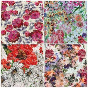 Broderie avec Fleur dentelle Imprimer d'autres la conception et la couleur