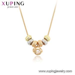 Bijoux Xuping Tri couleur imitation mince collier de la chaîne d\u0027or italien