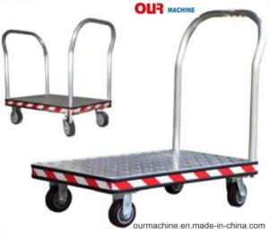 4つの車輪手トラックのヨーロッパの市場のためのアルミニウムプラットホーム手トラック