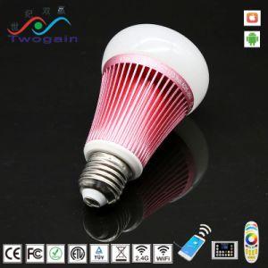 Venda por grosso RGBW E27 da caixa de iluminação LED Inteligente Smart de poupança de energia da luz da Lâmpada Lâmpada WiFi 220V