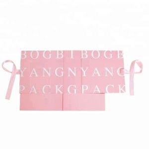 Commerce de gros de luxe à finition mate de pliage/gloire boîte cadeau en carton avec la fermeture du ruban