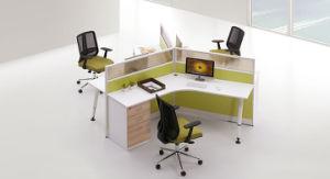 Il più in ritardo la stazione di lavoro dell'ufficio delle 10 sedi progetta lo scrittorio a forma di L a buon mercato (SZ-WS905)