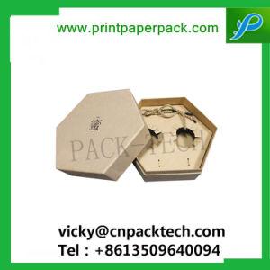 주문 엄밀한 광택지 머리 온천장 포장 상자 보석 귀걸이 상자 뚜껑과 기본 상자 둥근 비누 포장 상자