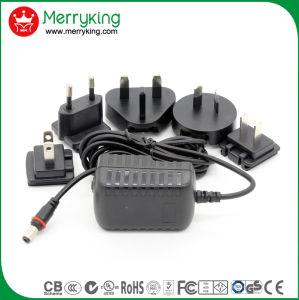 Universele AC gelijkstroom van de 100-240VAC gelijkstroom 5V/2A Verwisselbare Stop 12V/1A Adapter