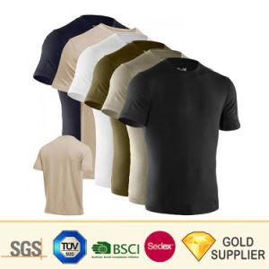 중국은 OEM 로고를 가진 면 비스코스 레이온 곡선 대원 목 Drip-Dry t-셔츠를 인쇄하는 남자의 형식 적당 여가 습기 흡수 열전달을 제조한다