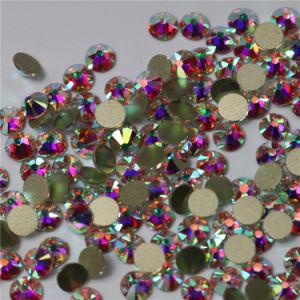 Runde Form-flache RückseiteRhinestone, 2mm GlasRhinestone