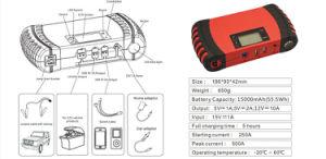 15000mAh空気圧縮機およびLCDスクリーンのポータブルが付いている多機能の速い料金のリチウム車のジャンプの始動機