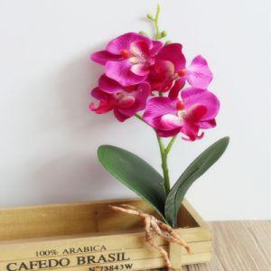 Домашняя оформление мини-четыре цветы Phalaenopsis шелка Цветы искусственные цветы