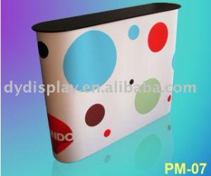 PVC Compteur de la promotion de la publicité contextuelle Tableau pour l'exposition