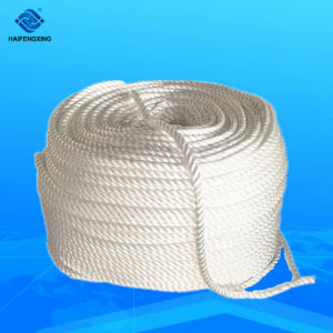 De witte Bergbeklimming van 3 Bundel Verdraaide pp /Polyamide/Nylon/Polyester/Polypropylene En Statische Kabel