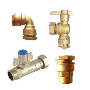 Le raccord de cuivre et laiton clapet à bille pour PE-pipe PPR