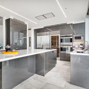 Bespoke verniz brilhante 2 Pack móveis domésticos Armários de cozinha moderna